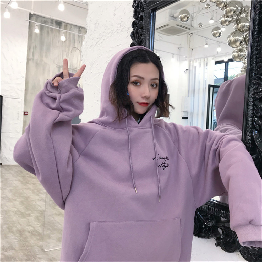 Hooded Women Hoodies Autumn Winter Casual Pullovers Tops Trendy Leisure Sweatshirts Letter Printed Student Hot Ladies Hoodies