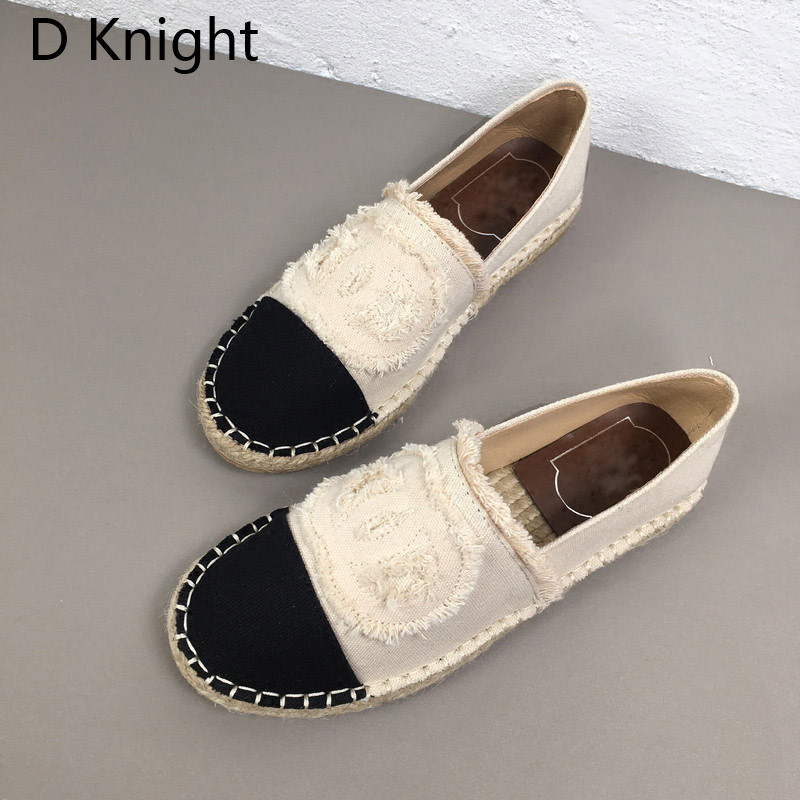 Women Espadrilles Straw Fisherman Shoes Flat Bottom Hemp Rope Breathable Female Loafers Spring Summer Casual Ladies Canvas Shoes (1)