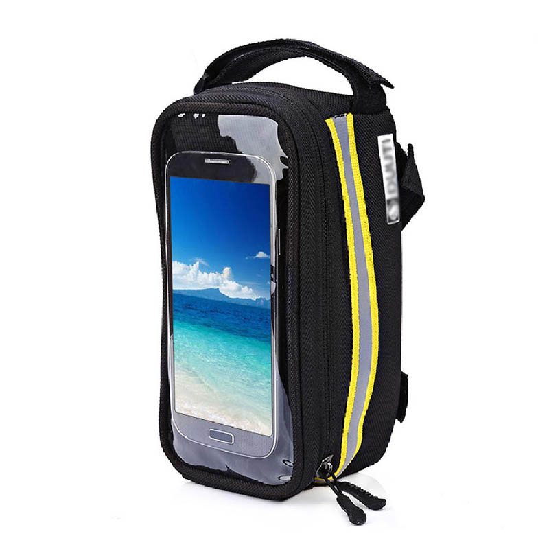 Bicycle Phone Bag Case Touch Screen Waterproof Bike Frame Front Tube Storage Bag Pouch Case for iPhone Samsung 3.5-6 inch Phones (22)