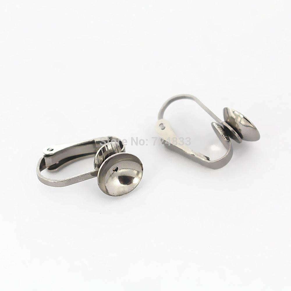 40 pcs Brass Round Boucles D/'oreilles Blanks bases Boucle d/'oreille avec 12 mm Pad cadres Bricolage