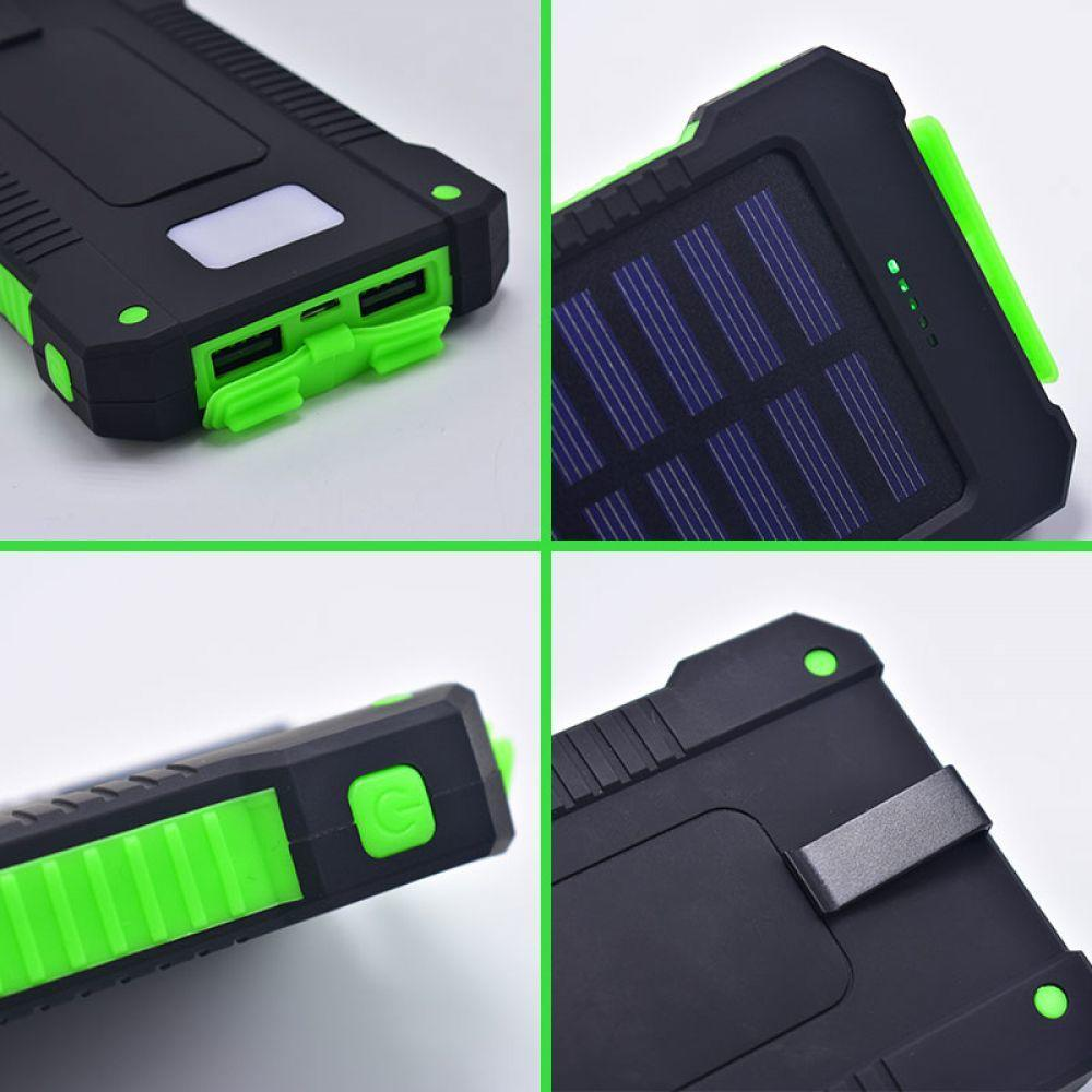 30000 mAh Fashion Solar Powerbank Power Bank Portable Charger External Battery Hanger with Compass for Xiaomi MI iPhone Samsung