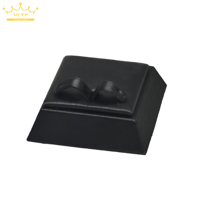 Earring Holder Jewelry Display Rack Window Showcases Showed Earrings Stand Black Leather Tower Style