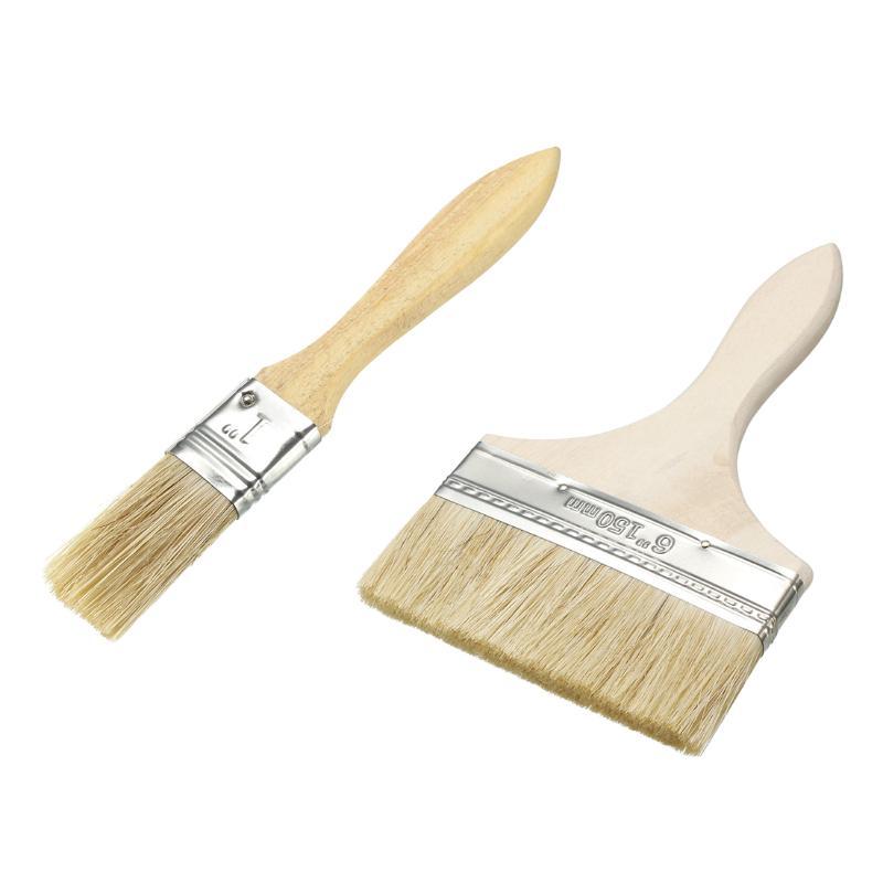 LC/_ 3Pcs Fan Nylon Hair Wooden Handle Watercolor Oil Paintbrush Brushes Set Re