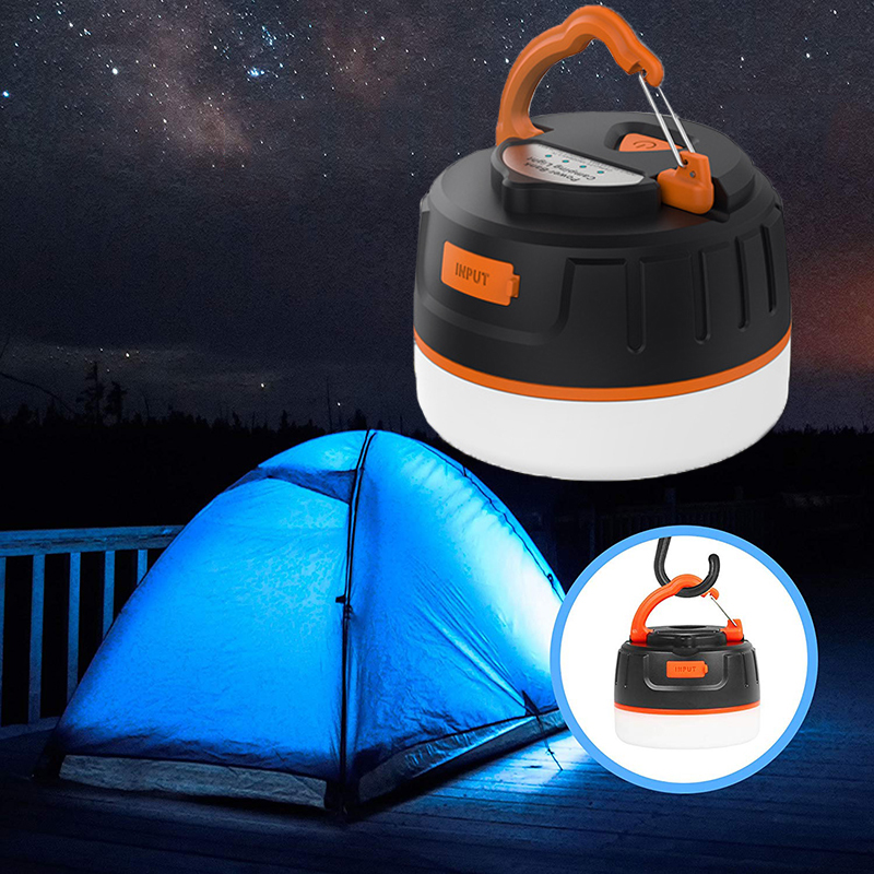 Portable Camping Light Lanterna Led Work Light USB Rechargeable 5200mAh Power Bank Torch Lamp For Hiking Outdoor Camping Tent Home Emergency