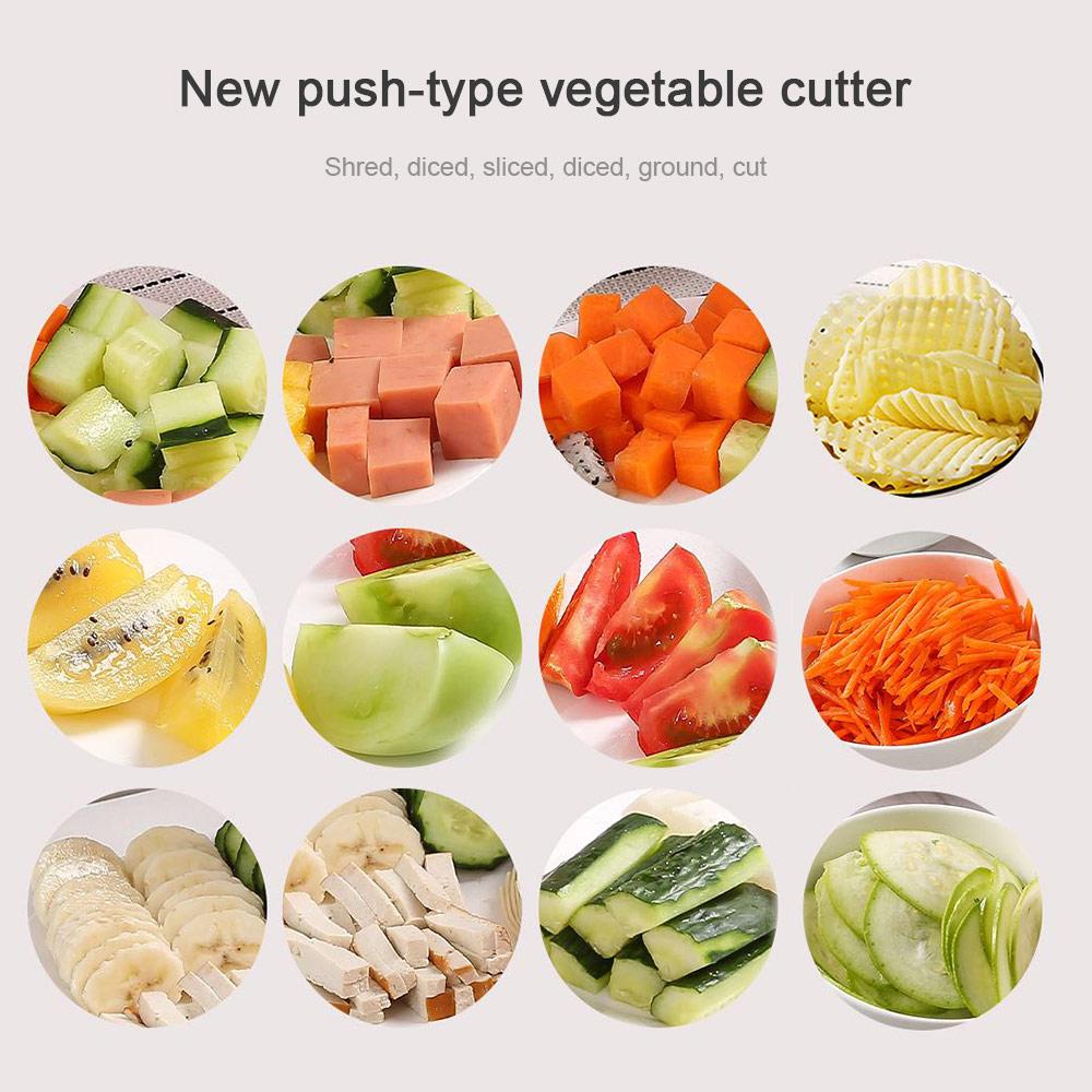 Multifunctional Vegetable Fruit Dicer Food Chopper Cutter Spiralizer Grinder Grater Mandoline Slicer Onion Chopper Egg Separator