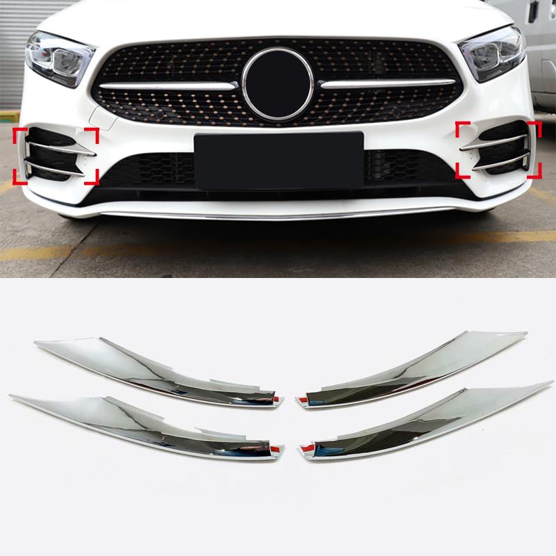 Front Bumper Chrome Molding Cover Trim PAIR For Mitsubishi Pajero 2015-2016