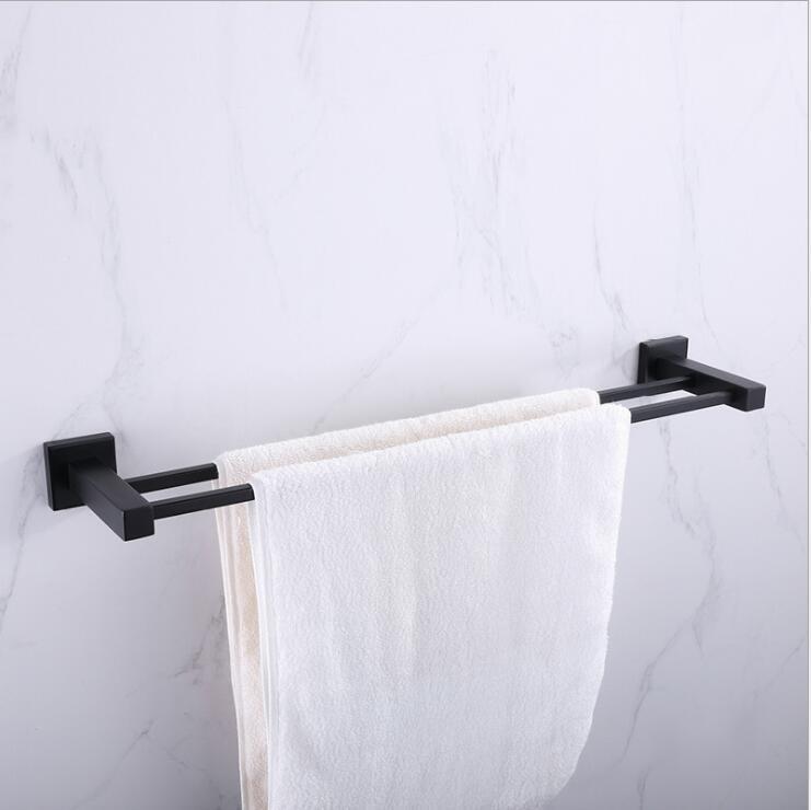 Mural anneau de serviette en métal finition chrome salle de bain porte-serviettes support accueil salle de bains