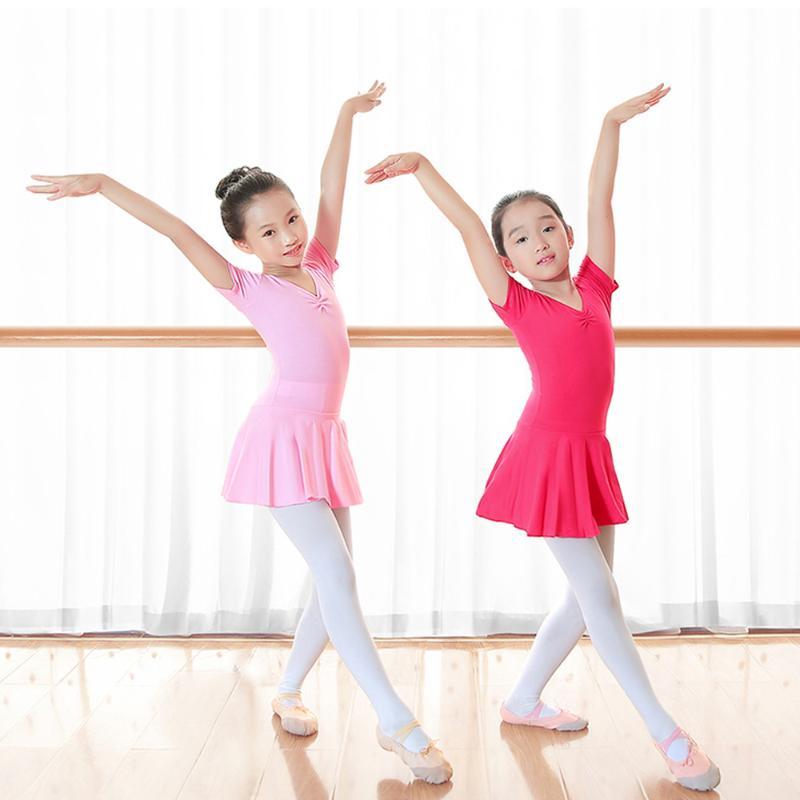 UK /_ Kid Fille Ballet Danse Robe gymnastique de patinage à Manches Longues Justaucorps Dancewear