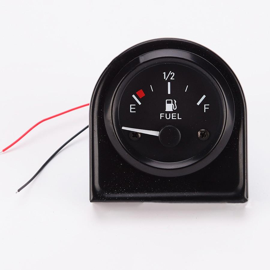 perfk Indicador de Nivel de Gasolina de 52 mm LED de Iluminaci/ón Sensor de Combustible Autom/ático