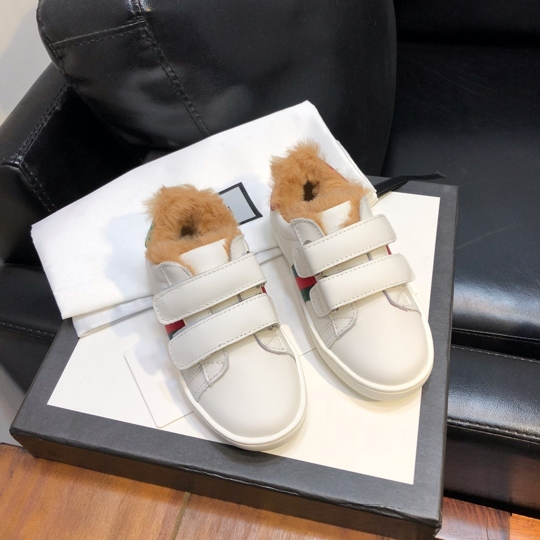 2019 niños Deportes del invierno del otoño muchachos de las niñas inferior suave zapatos de los niños del ocio de la cachemira 121015