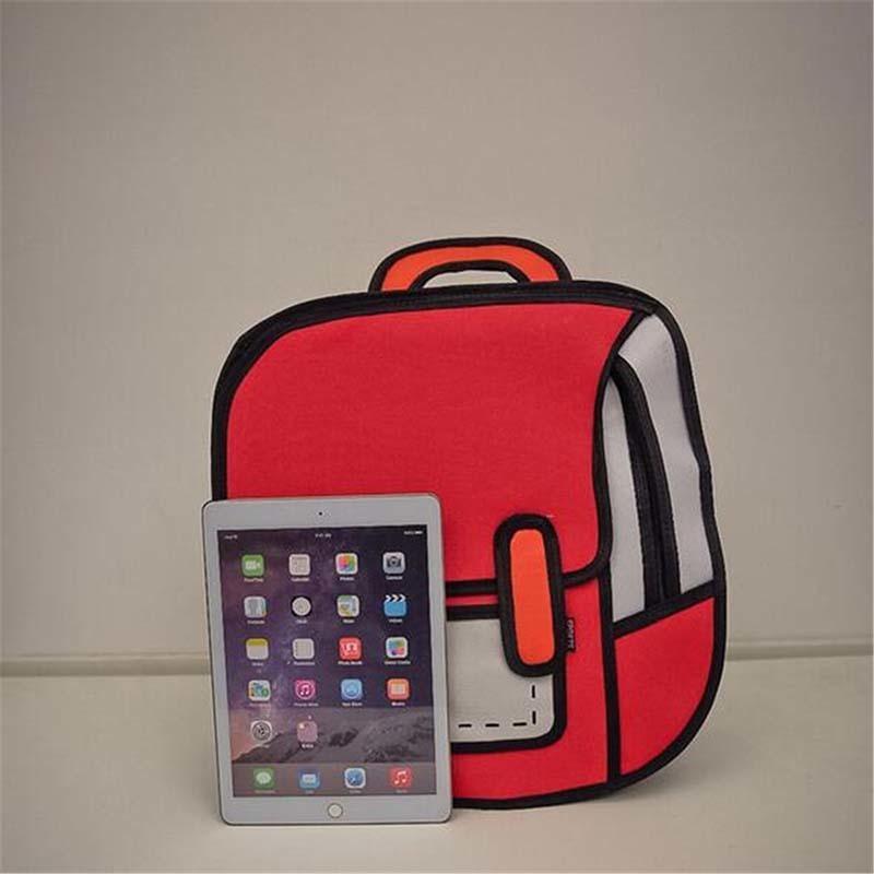 Aequeen 3d Printing Canvas Backpacks 2d Drawing Cartoon School Back Pack Bag Cute Student Schoolbag Messenger Feminine Backpack J190528