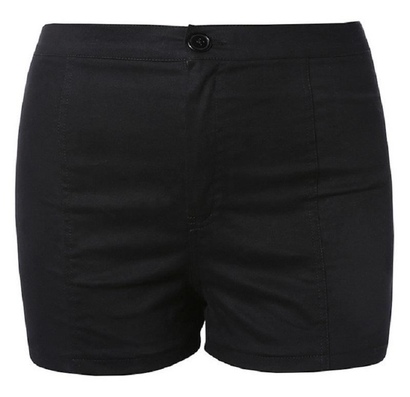 2018 Nuevas Mujeres Del Verano Pantalones Cortos Sólidos Criss Cross Vendaje de Cintura Alta Casual Negro Pantalones Cortos de Moda Hotpants C19040901