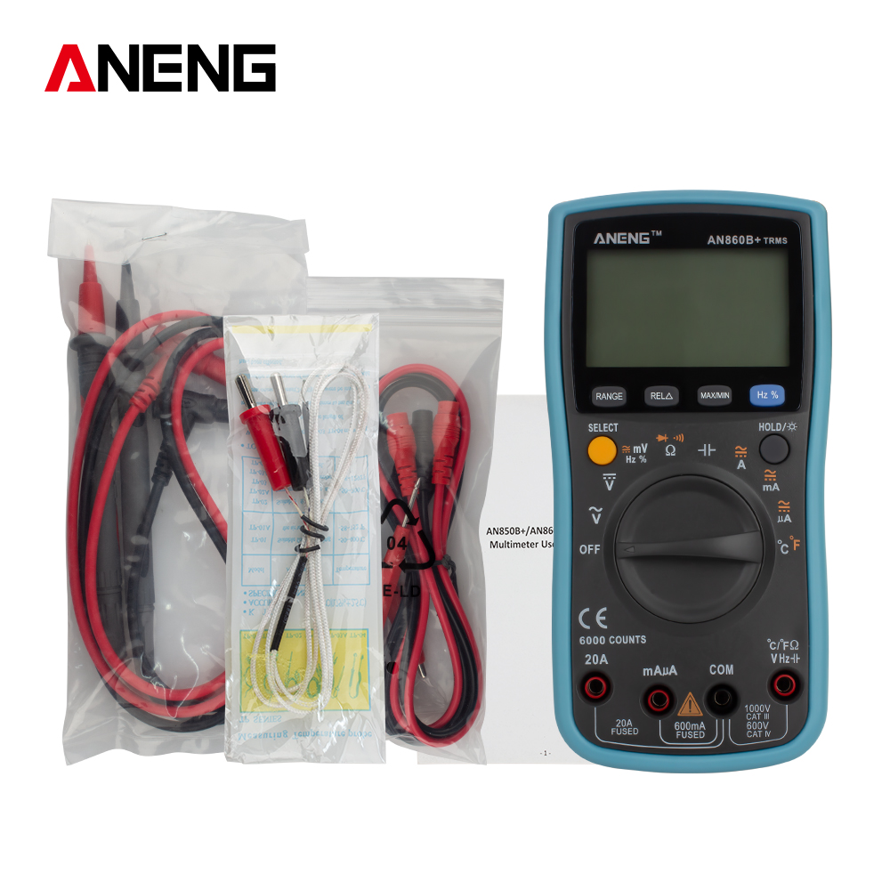 Amperometro Voltmetro a 6000 Conteggi PM8247S Multimetro Digitale Intelligente PEAKMETER DC//AC V//A
