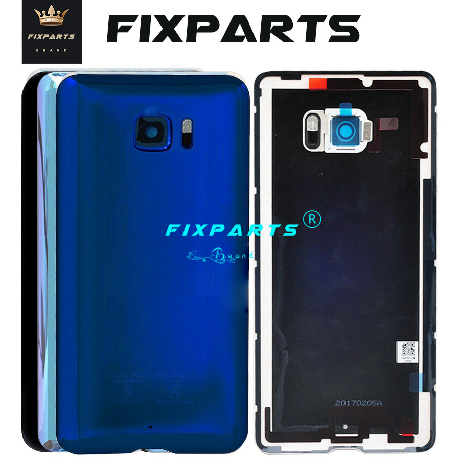 New Original Material Glass Back Rear Housing Door For HTC U Ultra Back Battery Cover Case with Camera Lens (4)