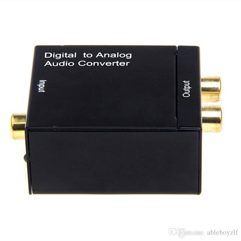Optical 3.5mm Coaxial Toslink Digital to Analog Audio Adapter Converter RCA L/R with Fiber optic cable Power Adapter