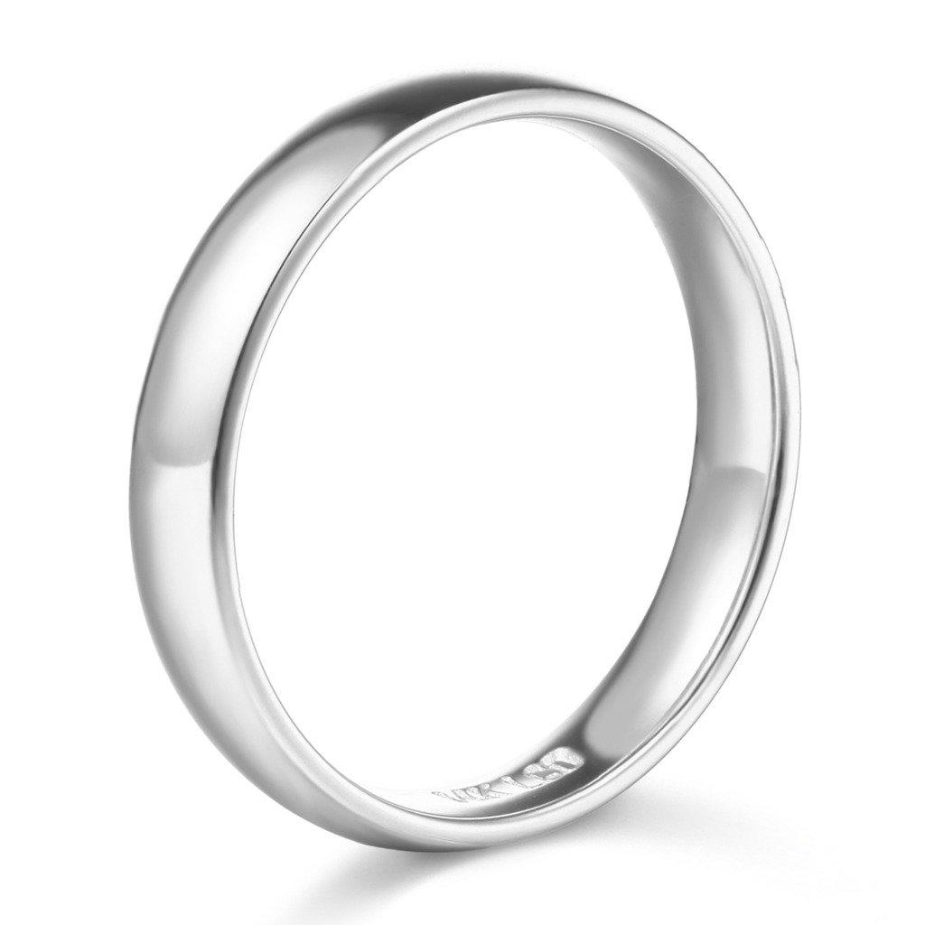 20 adet Asla solma 316L Paslanmaz çelik 18 k Beyaz Altın Kadınlar Için GP Yüzük Erkek Nişan Düğün Tam Çek Rhinestones Moda Takı