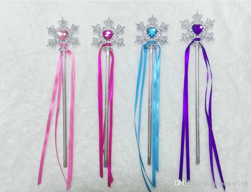 Fairy Wand Ribbons Christmas Wedding Party Snowflake Gem Sticks Magic Wands Confetti Party Props Decoration Events Favors Supplies