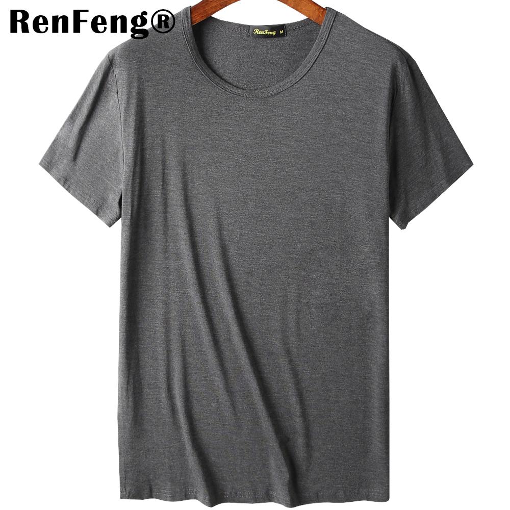 2018 Cool T Shirt Men 95% Bamboo Fiber Hip Hop Basic Blank White T-shirt For Mens Fashion Tshirt Summer Top Tee Tops Plain Black (7)