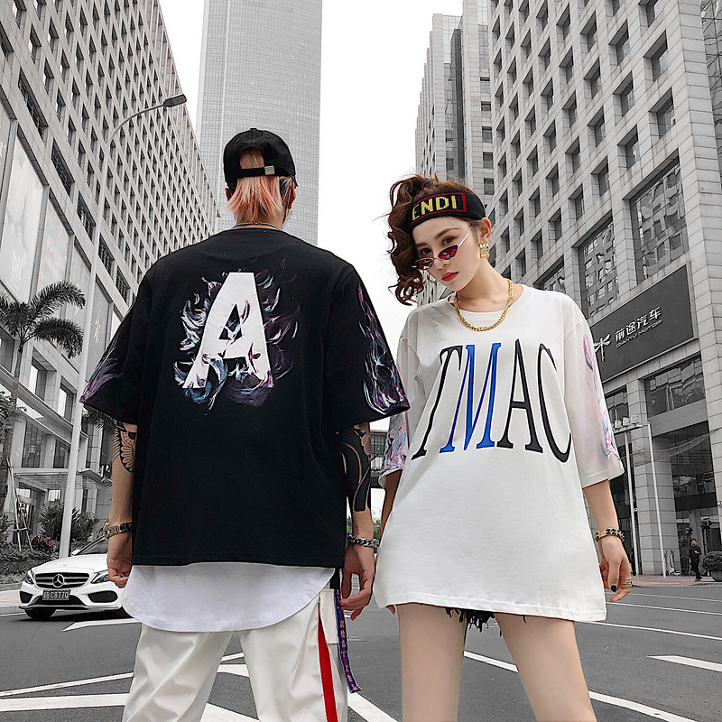 Lovers Summer Wear 2019 New T-shirt Country Hip Hop A Print Short-sleeved Men's Cotton Tyga Top Tees C190416