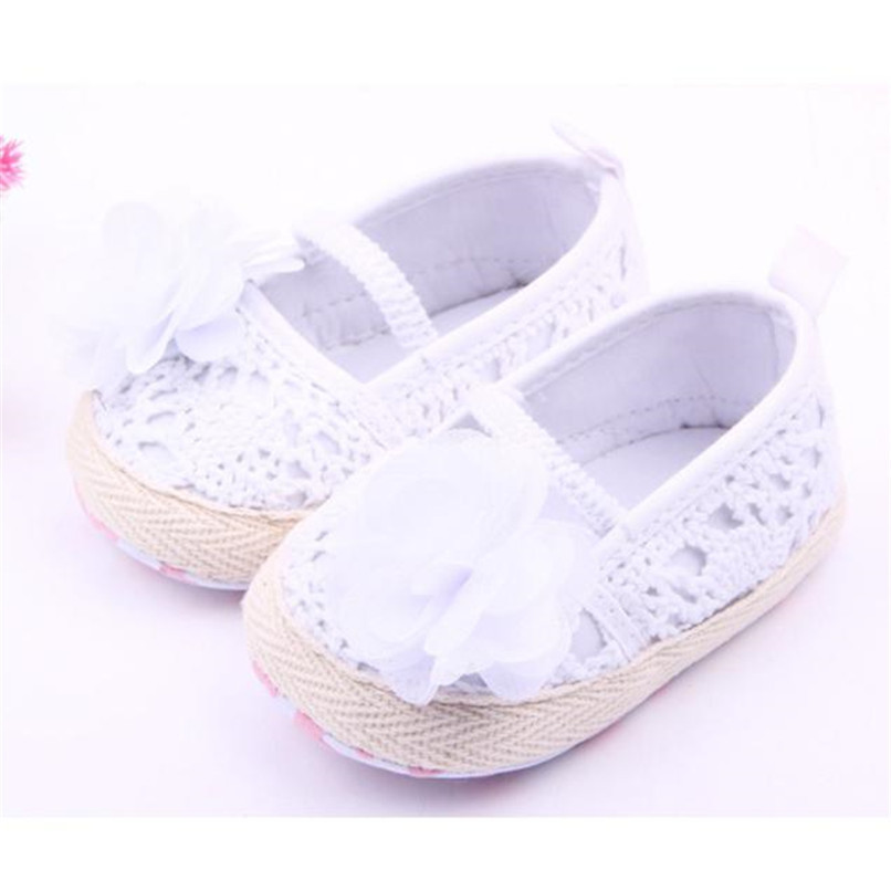 Baby Girls Shoes Toddler Kids Baby Girl Solid Flower Soft Sole Anti-slip Shoes Baby Girls First Walker Shoes M8Y11 #F (4)