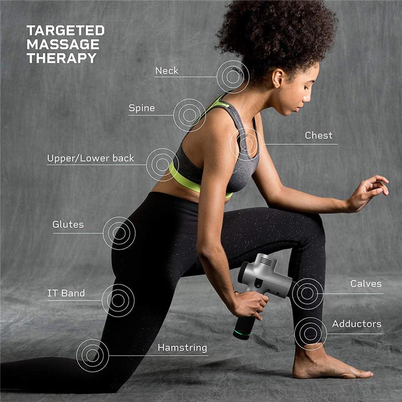 Fascial Gun Muscle Massaging Relax Recovery Soreness Pain Fascia Gun Relief Slimming Shaping Massager 4 Heads Gym Aiding (11)