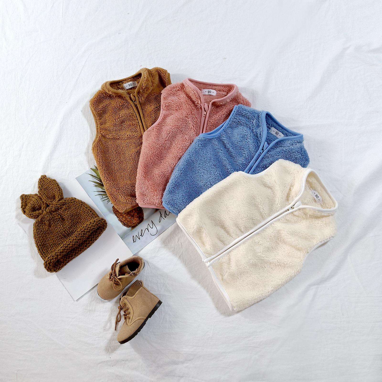 New Infant Winter Autumn Velvet Jackets Toddler Warm Waistcoat Coat Clothes Kids Clothing Baby Girl Boy Clothes Baby Fur Vest