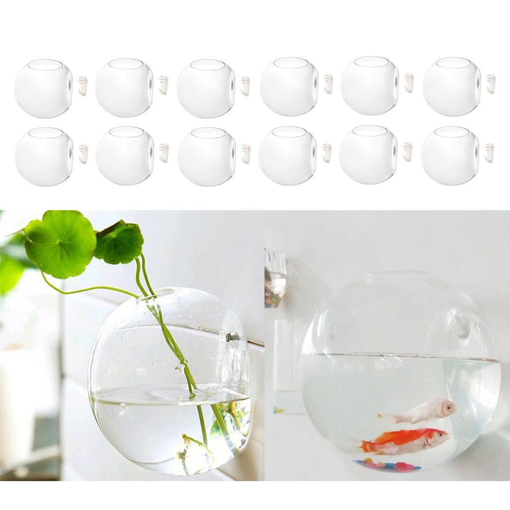 1pc Wall Hanging Planters Flower Pots Glass Air Plant Containers 4/'/' Diameter