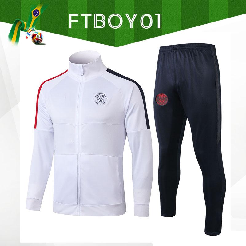2019 adulte Real Madrid Football Survêtement Set Domicile Extérieur Football Vestes Formation Costume Survetement Chandal Kit