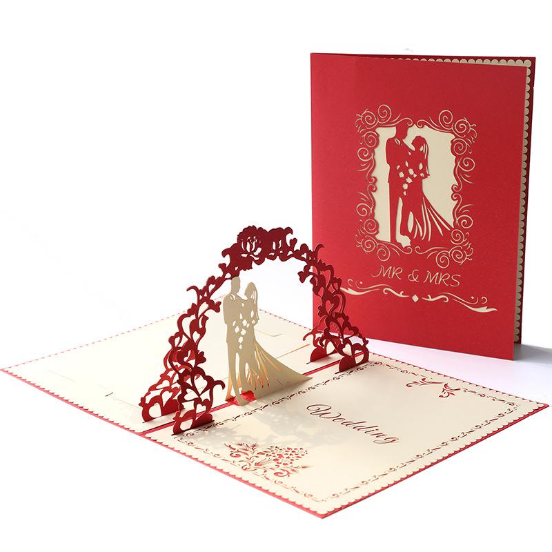3D Pop Up cartes Valentin Amant Joyeux Anniversaire Anniversaire Carte De Vœux TRENDY
