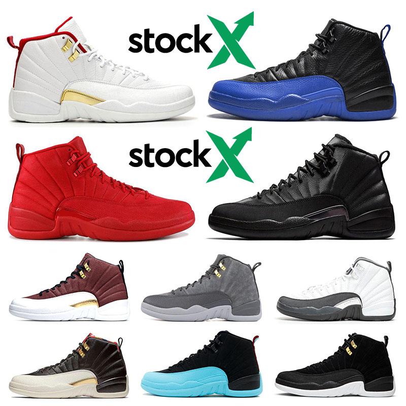 Nike air jordan 12 12s Nouveau 12 12s chaussures de basket pour hommes Gymnase red Bulls Jeu de la grippe Taxi BORDEAUX College marine gris Designer