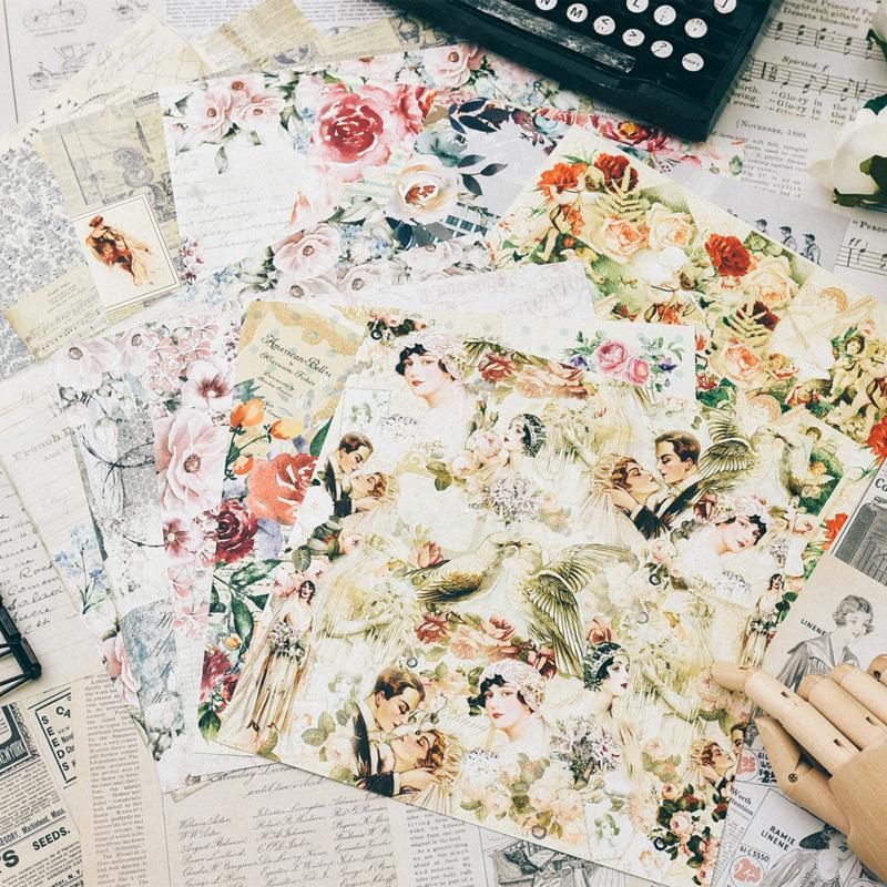 24 blatt doppelseitig bedruckte vintage muster diy scrapbooking hintergrund pack kreative handwerk kunstpapier handmade kit set q190528