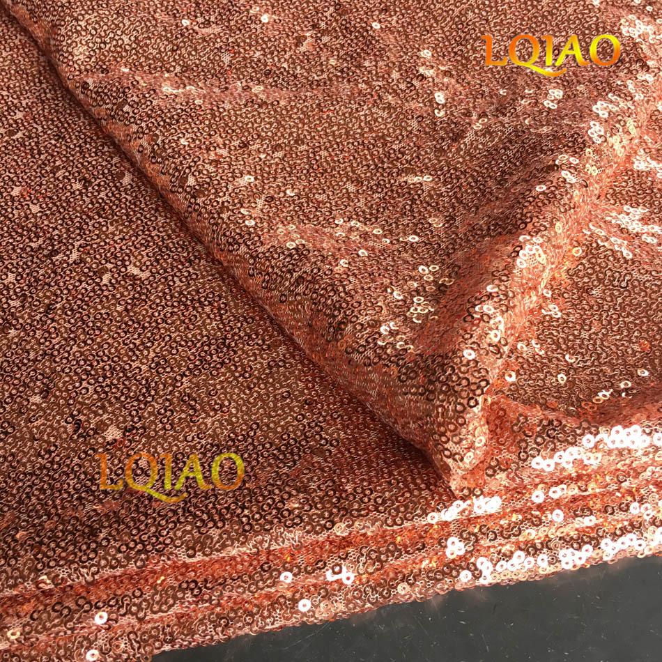 Rose Gold Sequin Fabric-006