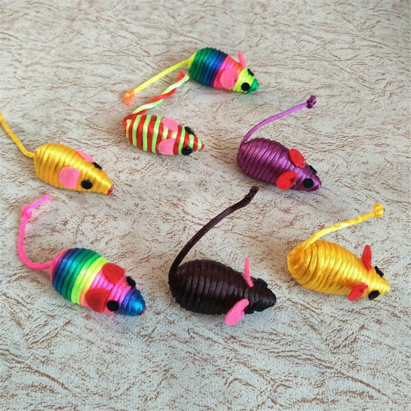 False Mouse Toy Squeak Noise Sound Cat Toy Stylish Cute Little Mouse Rat Playing Toys Pet Supplies Toys False Mice