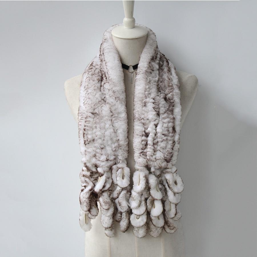 knitted rabbit fur scarf rabbit (11)