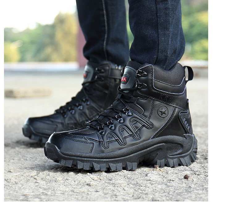 Brand Men\`s Boots Military boot Tactical Big Size Army Male Shoes Safety Combat Mens Chukka Ankle Bot Motocycle Boots (20)