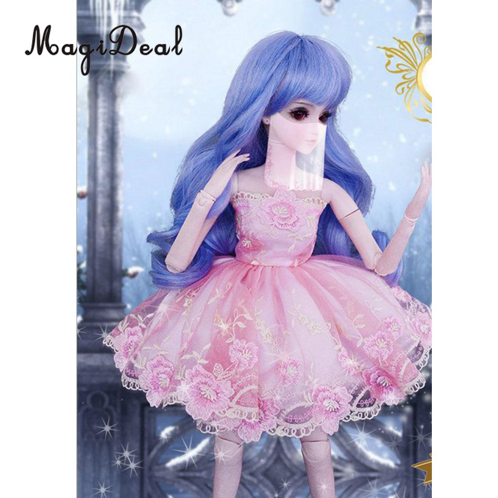 1/3 BJD Smart Dolls Clothes Embroidery Dress Gown for Dollfie for DOD SD DD MSD Party Wedding Outfit