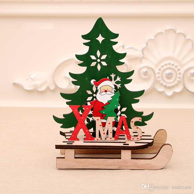 Wooden Christmas sledge 30 cm lenght xmas Decorations Hand Made