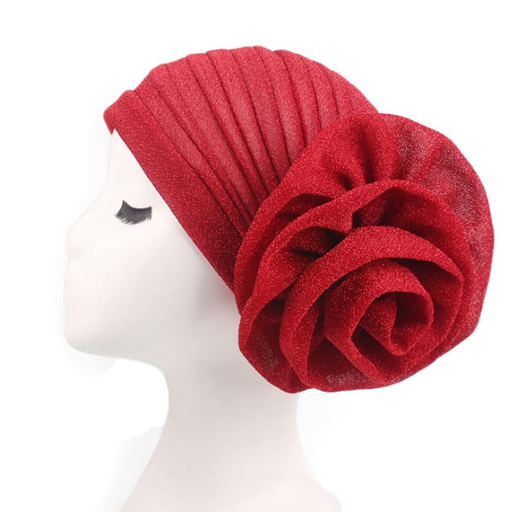 Sequin Papillon Noeud Fleur Rose Dentelle Chapeau Femme Coiffure Turban Beanies Cap NEW