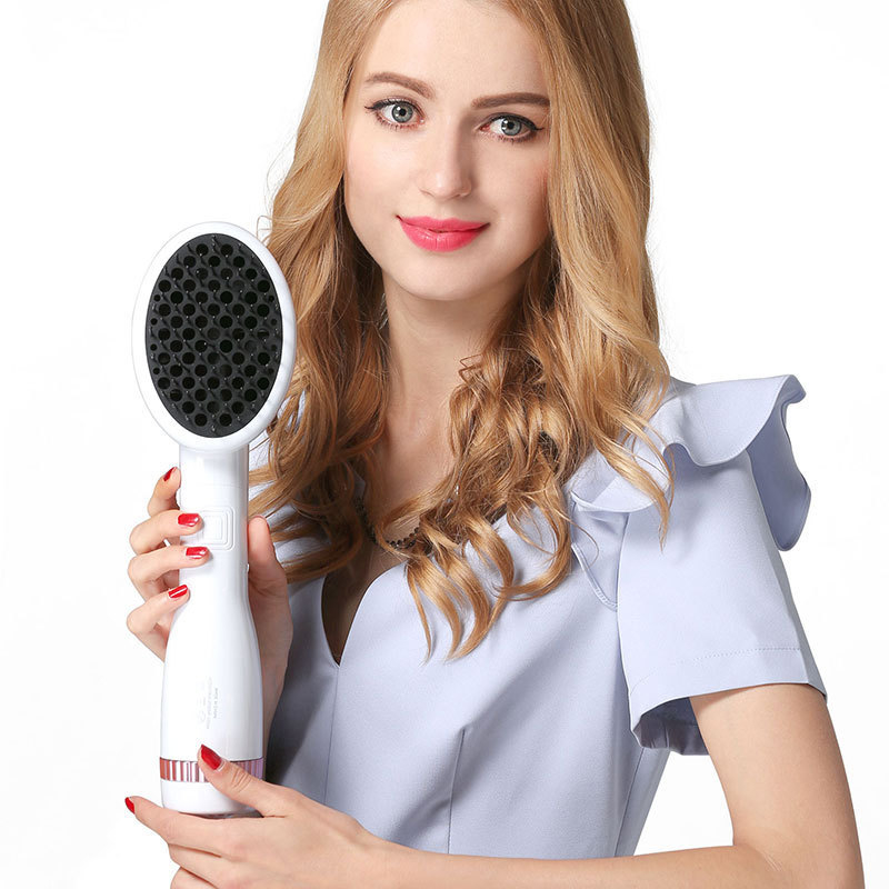 One Step Hair Dryer Styler Comb Hot Air Paddle Brush Anion Generator Hair Straightener Eliminate Frizzing Tangled Hair & Knots