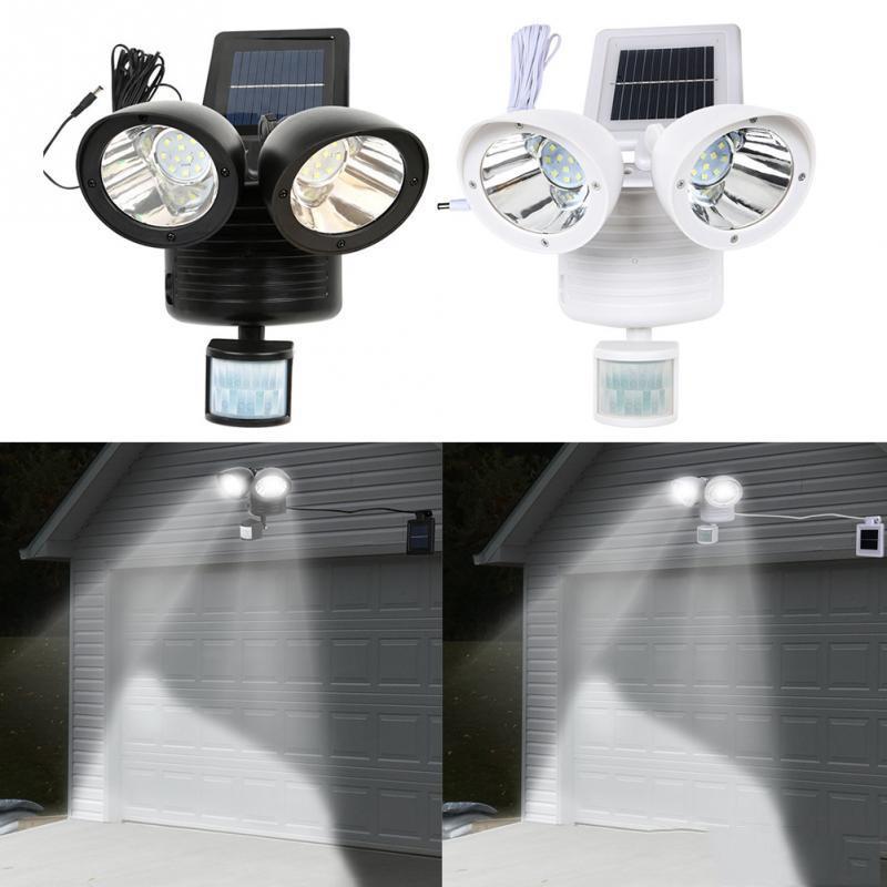 30W COB 100LED Solarlampe Solarleuchte Flutlicht Gartenlicht Wandleuchte