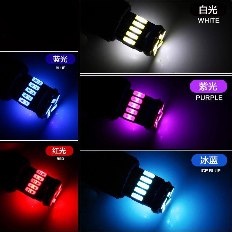 DC12V White 15 SMD 15 LED 4014 T10 Wedge Lens LED Light Bulb With CANbus/Electrodeless/Constant Current
