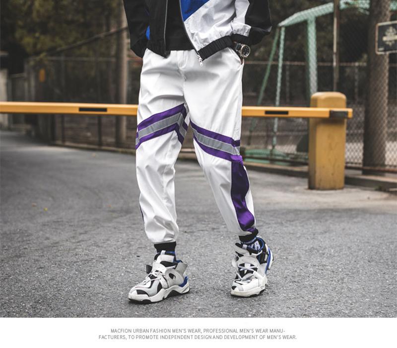 Loose Hip Hop Cargo Pants Men Camouflage Patchwork Harem Mens Trousers Streetwear (54)