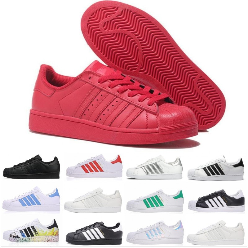 adidas Hot Originals superstars casual shoes Designer pour hommes femmes noir blanc or vert rouge super star mode mens chaussures de sport taille