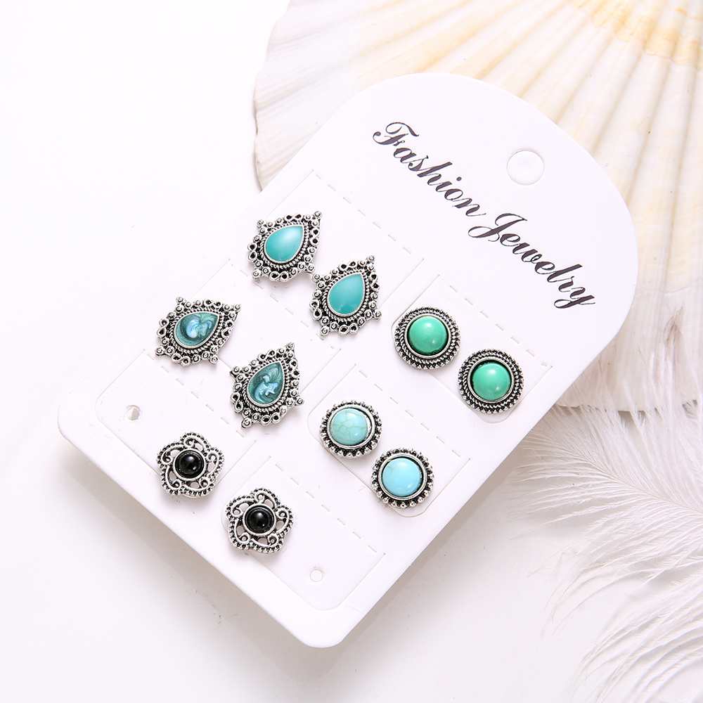5-Pairs-Set-Vintage-Black-Green-Stone-Earrings-Set-for-Woman-Crystal-Silver-Geometric-Stud-Earring (2)