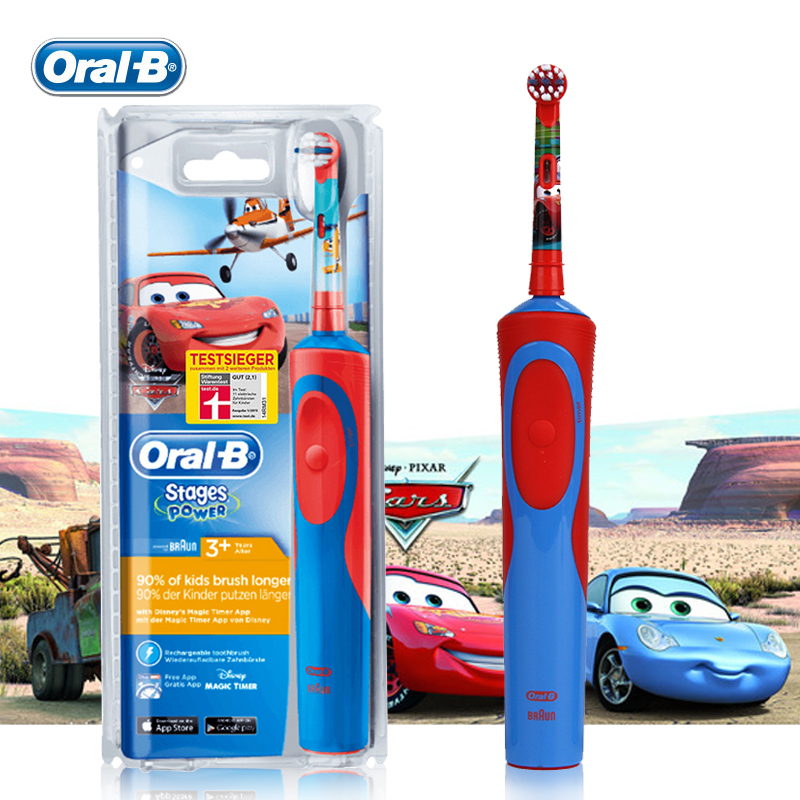 Oral B Children Electric Toothbrush D12513K Safety Rechargeable Waterproof Gum Care Teeth brush for Kids Ages 3+ Oral Hygiene