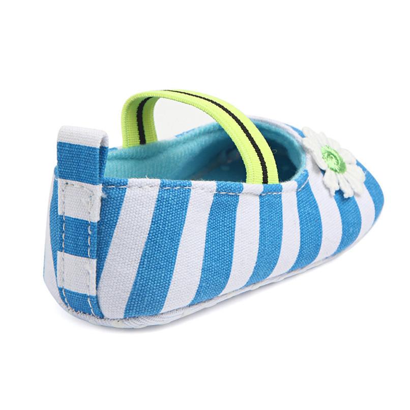 Summer Boys Girls Shoes Infant Kids Girls Baby Stripe Flower Shoes Soft Sole Anti-Slip Shoes First Walker NDA84L25 (21)