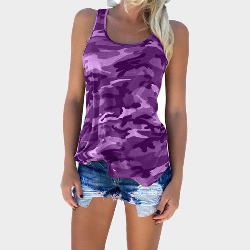 Summer Women Fashion Camouflage Tank Tops Sleeveless Military Vest Female Tees Girls Tops Sling Camisole Ladies Clothing Hot Y19042801
