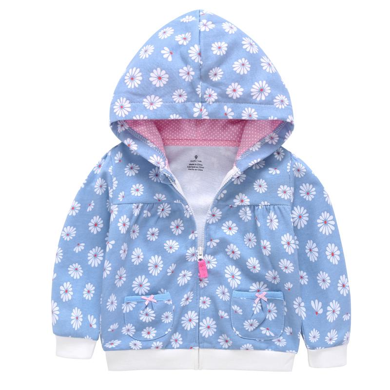 cute baby girl spring flower sweatshirt jacket kid girl Long sleeve Hoodies with pocket