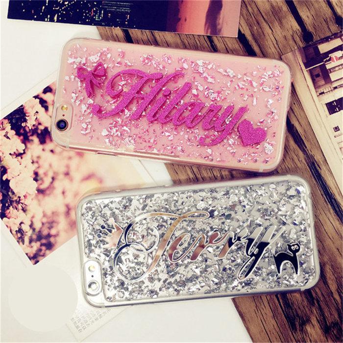 For Huawei mate 9 10 20 lite pro Nova 2 plus 3i Exclusive personality Custom name Phone Case Soft Glitter foil Back Cover