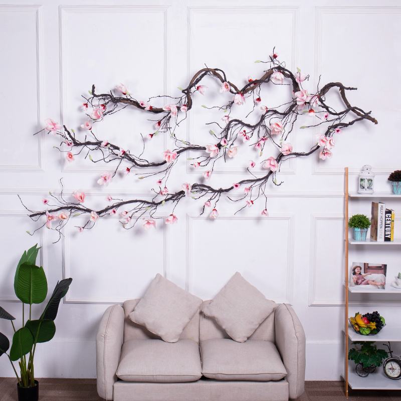 Silk flowers fake Magnolia Wedding Decorations Ivy Vine wreath Artificial Flowers Arch Decor with Green Leaves Hanging Wall flowers Garlands